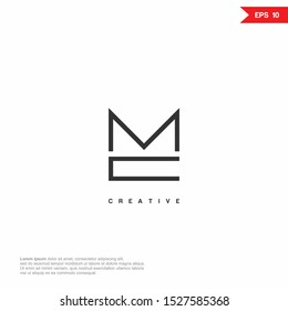 Letter MC, CM simple Logo icon monogram design. Vector graphic design template element.