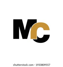 Letter MC simple logo design vector