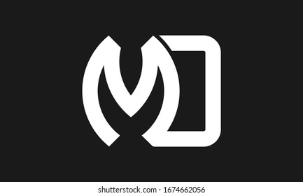 Letter MD or M O initial logo design in vector, Professional Letters monogram Logo on background.