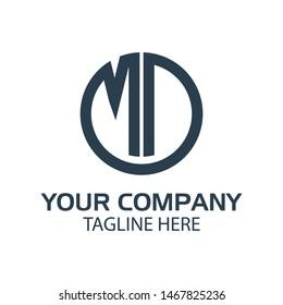 Letter MD stock logo, MD initial., flat design. technology logo