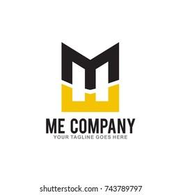 letter ME Logo Design Vector Illustration