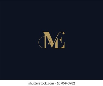 Letter ME luxury logo template element.