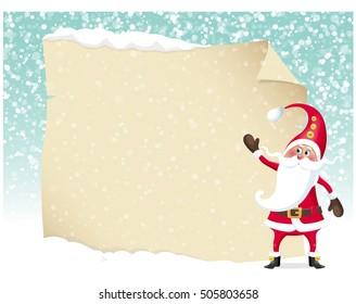 Letter merry christmas illustration of santa claus