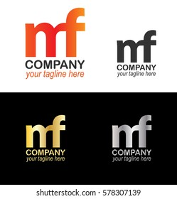 Letter MF NF Logo