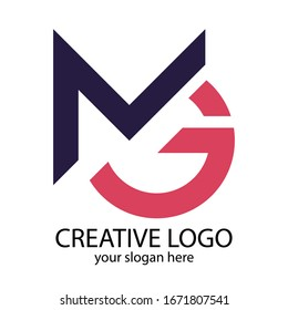 Letter MG Logo Symbol. Initial Monogram Logo. Vector logo for business and company identity