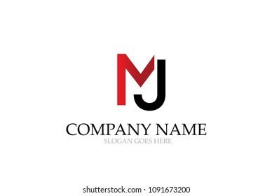 Letter MJ Initial Logo Design Vector.