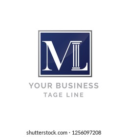 Letter ML for law firm business