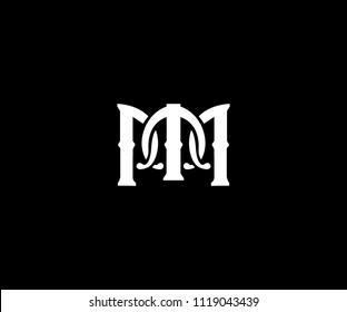 Letter MM classic style logo design