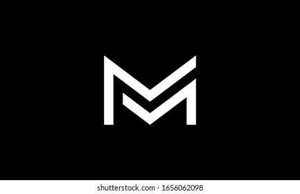 Letter MM Logo Monogram Double M Logo