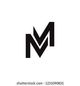 letter MM logo vector