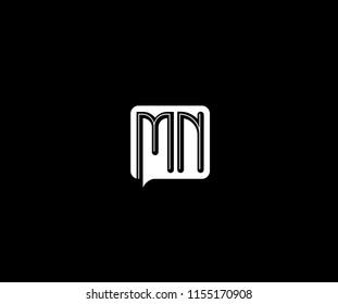 Letter MN Corporate Shape Monogram Logotype