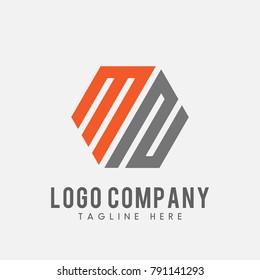 letter MN M2 MS logo vector