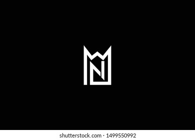 Letter MN NM M N House Logo Design. Initial Based Real Estate Business Icon Template