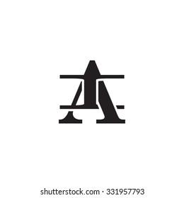 letter I and A monogram logo