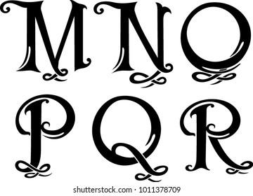 Letter Monogram Set 3 Uppercase