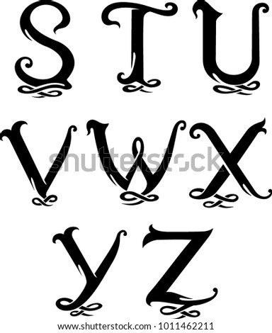 Letter Monogram set 4 Uppercase