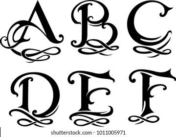 Letter Monogram Set Uppercase