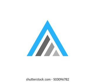 Letter A Mountain Logo Design Template