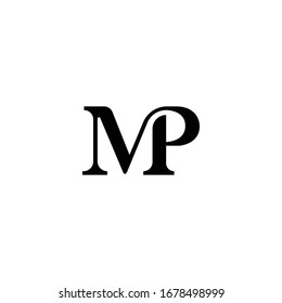 Letter MP logo icon vector.
