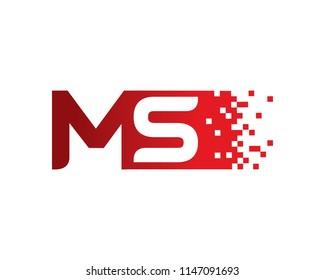 Letter MS Logo Template Design Vector, Emblem, Concept Design, Creative Symbol, Icon