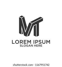 Letter MT logo design