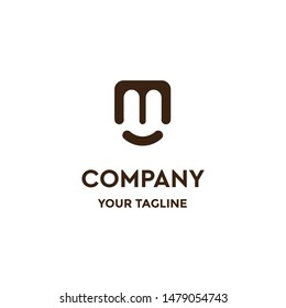 letter mu logo design for company, business, abstract, creative