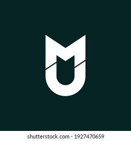 Letter MU modern logo design  vector