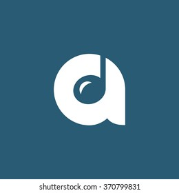 Letter A music logo icon design template elements