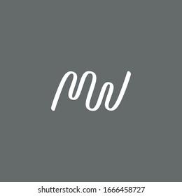 Letter MW and Ballerina Ribbon logo / icon design - Shutterstock ID 1666458727