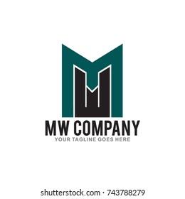 Letter MW logo design Illustration