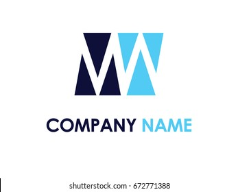 Letter MW logo design template
