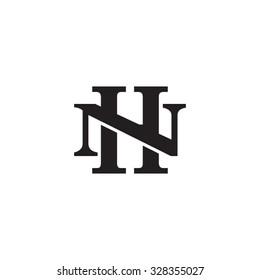letter N and H monogram logo