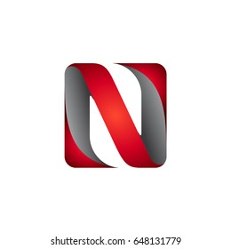 Letter N Initial Logo Template