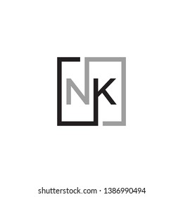 letter N K icon logo design.