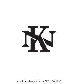 letter N and K monogram logo