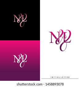 Letter N L NL logo initial vector. Initial luxury logo.