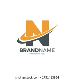 letter n logo design for marketing and finance business
