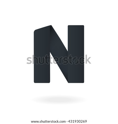 letter n logo design template stylish vector icon