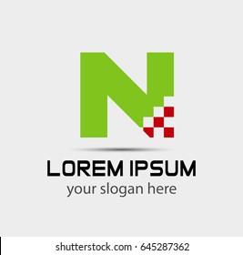 Letter n logo icon