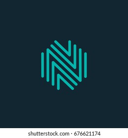 letter N logo icon design template. vector illustration