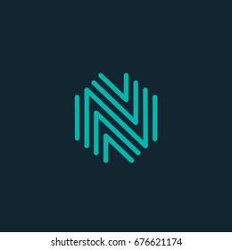 letter N logo icon design template. vector illustration