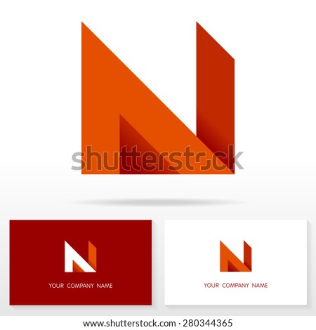 letter n logo icon design template stock vector royalty free