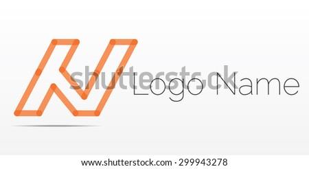 letter n logo icon design template elements logo design