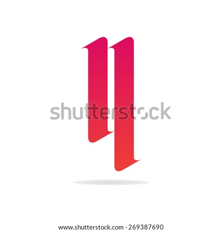 letter n logo template gothic letter stock vector royalty free