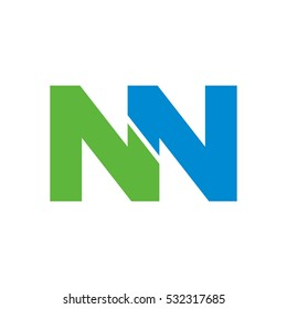 letter N and N logo vector