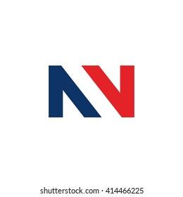 letter n logo vector. double letter N.