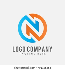 letter N logo vector, icon N abstract.