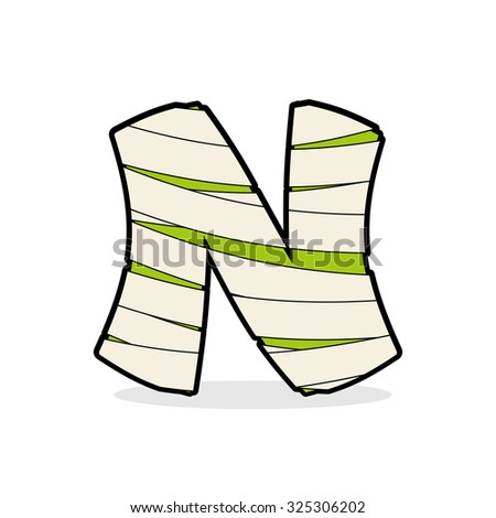 Letter N Monster Zombie Alphabetical Icon Stock Vector Royalty Free