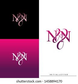 Letter N N NN logo initial vector. Initial luxury logo.