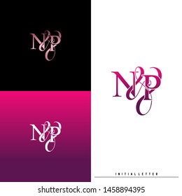 Letter N P NP logo initial vector. Initial luxury logo.